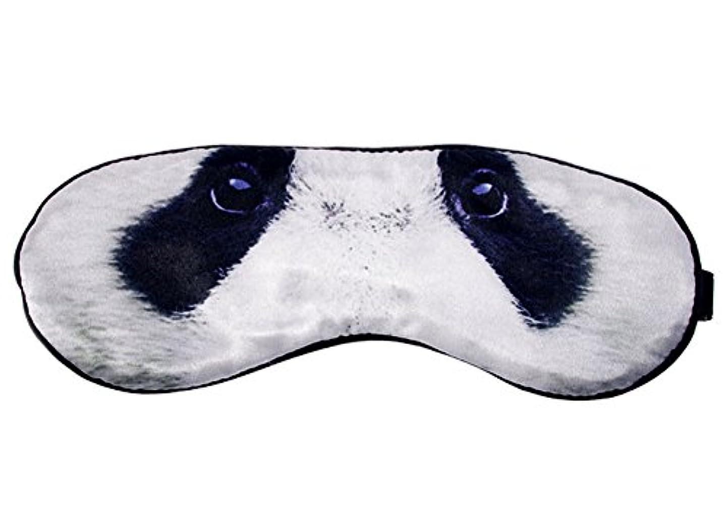 アコード旅行者リフト旅行や昼寝のための睡眠用弾性アイシェード目隠し用クールパンダシルクアイマスク