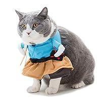 JPFASHIONING ペット服 コスプレ 猫 犬服 大変身 おもしろい 制服 コスチューム 面白い 可愛い