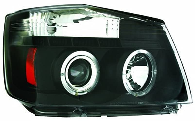 希望に満ちた完璧ピアIPCW CWS-1114B2 Nissan Armada 2004 - 2007 Head Lamps, Projector Black