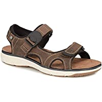 NJSDHEVS Mens Dual Touch Fasten Sandals Gripped Sole