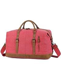 (エルワンズ)EverVanz ボストン ボストンバッグ キャンバス トラベルバッグ 機内持ち込み スーツケースに載せる 大容量デニムバッグ 折りたたみ 2way 旅行の相棒