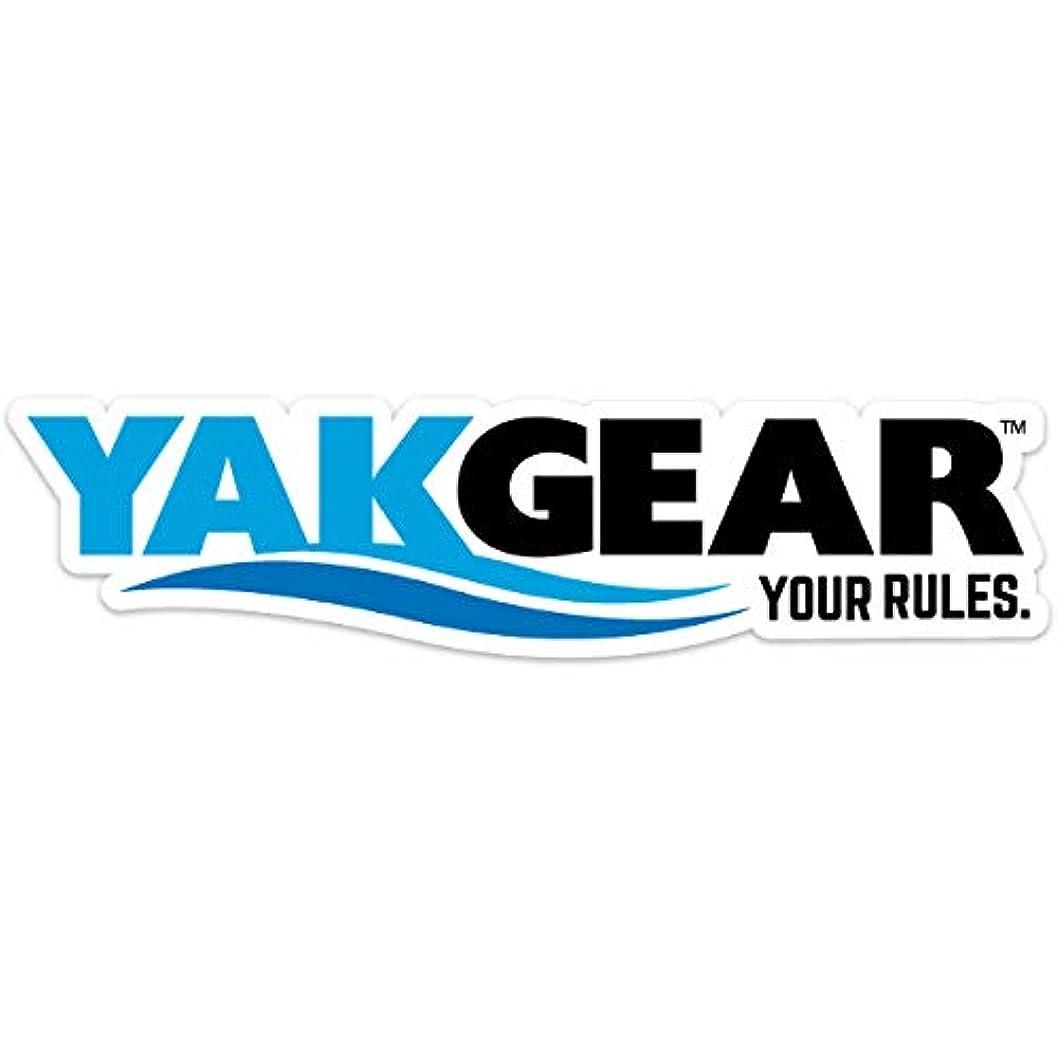 調和のとれた賞賛野球Yak Gear (ヤックギア) 公式オフィシャルロゴステッカー(単色ホワイト) カヤック 艤装 パーツ