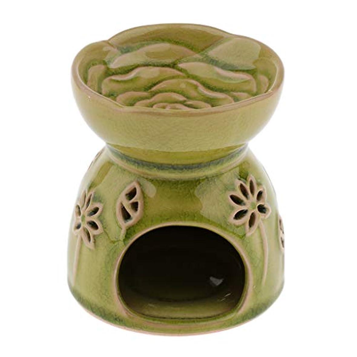小包松特性D DOLITY アロマディフューザー エッセンシャルオイルディフューザー セラミック 装飾 贈り物 全2色 - 緑