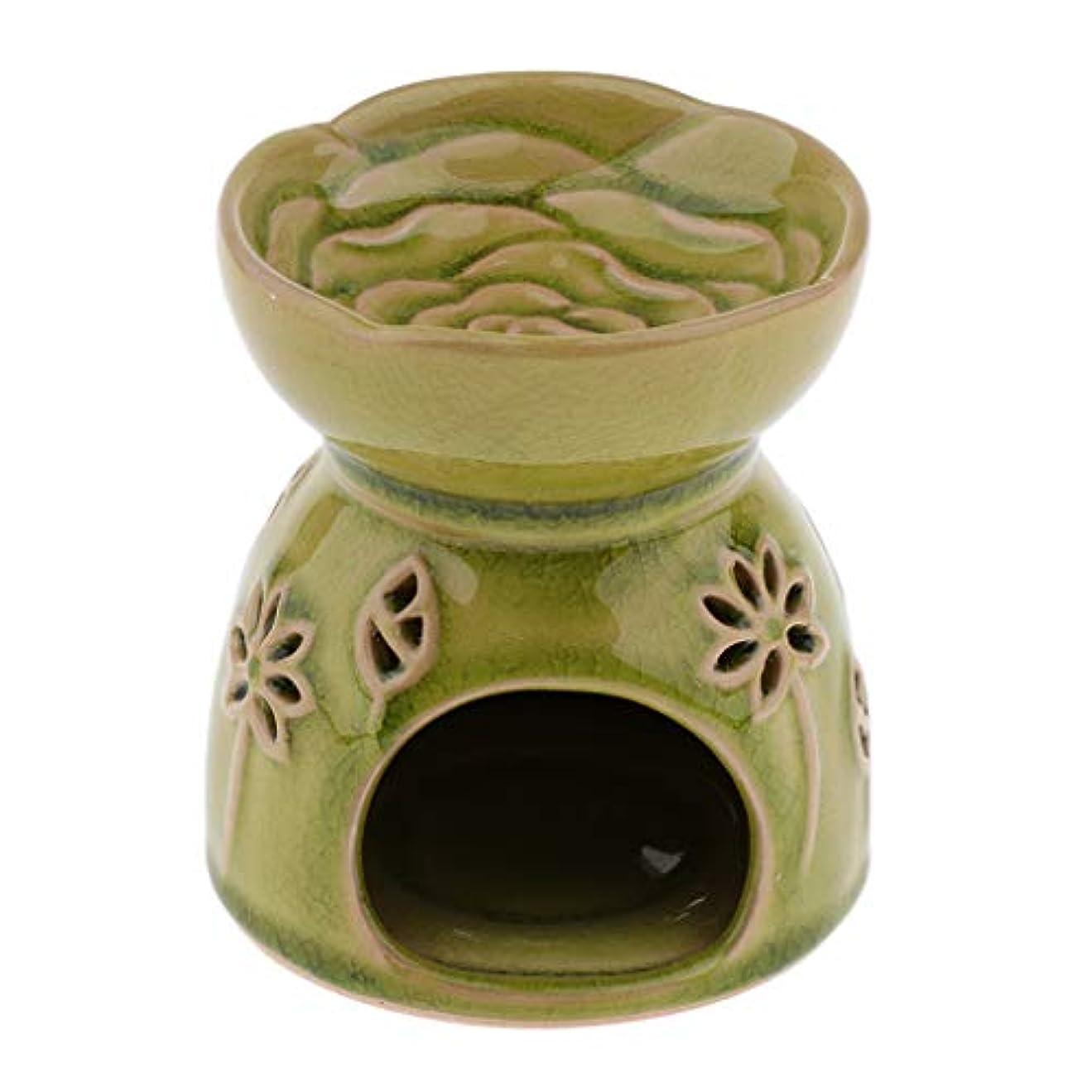 事前家事重要D DOLITY アロマディフューザー エッセンシャルオイルディフューザー セラミック 装飾 贈り物 全2色 - 緑
