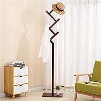 IRVING 純木のコートの棚の居間の寝室の帽子のジャケットのコートのハンガーラックのための簡単な出入口の永続的なホール (色 : Walnut Color)