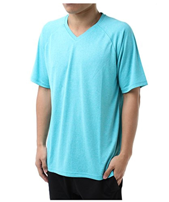 ビジョンクエスト メンズ スポーツウェア 半袖 Vネックヘザー機能Tシャツ VQ441201H03 MGN M