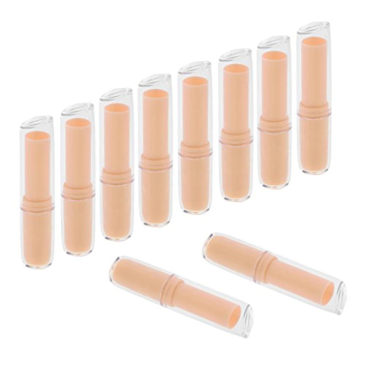 事故操作可能滑るリップクリームチューブ 口紅容器 口紅チューブ リップクリーム容器 プラスチック材質 約10個 全6色 - オレンジ