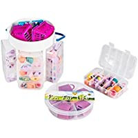 Fun For LifeTM Shopkins Compatible Organizer w/ Handle & Removable compartment Box ShopkinsTM Organizer Fits Up Approx 200 [並行輸入品]
