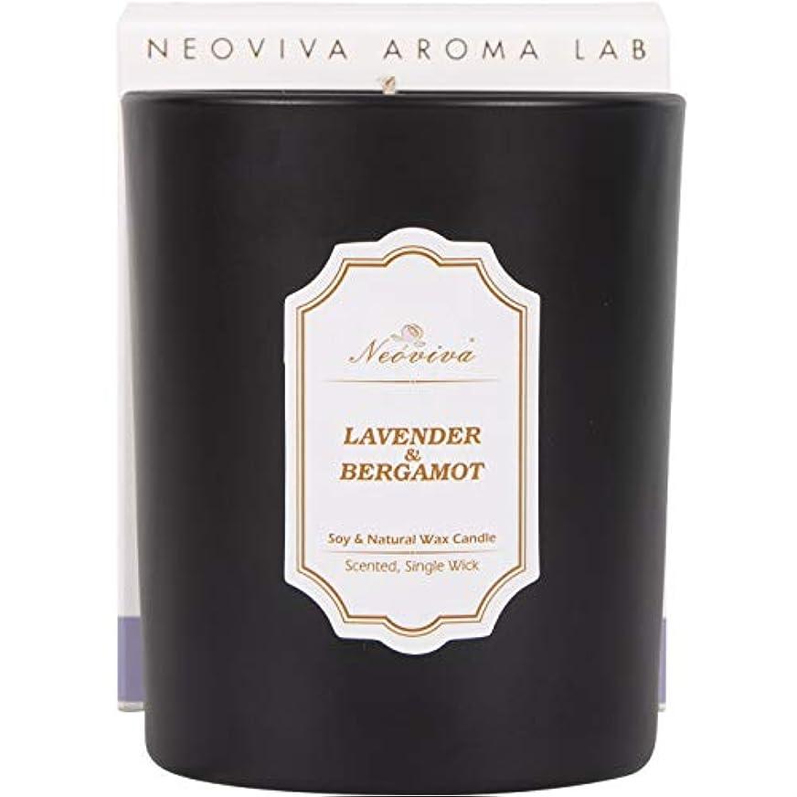 再生的憤る談話NEOVIVAアロマキャンドル ソイキャンドル インテリア プレゼント  ラベンダー (LAVENDER&BERGAMOT, BLACK)
