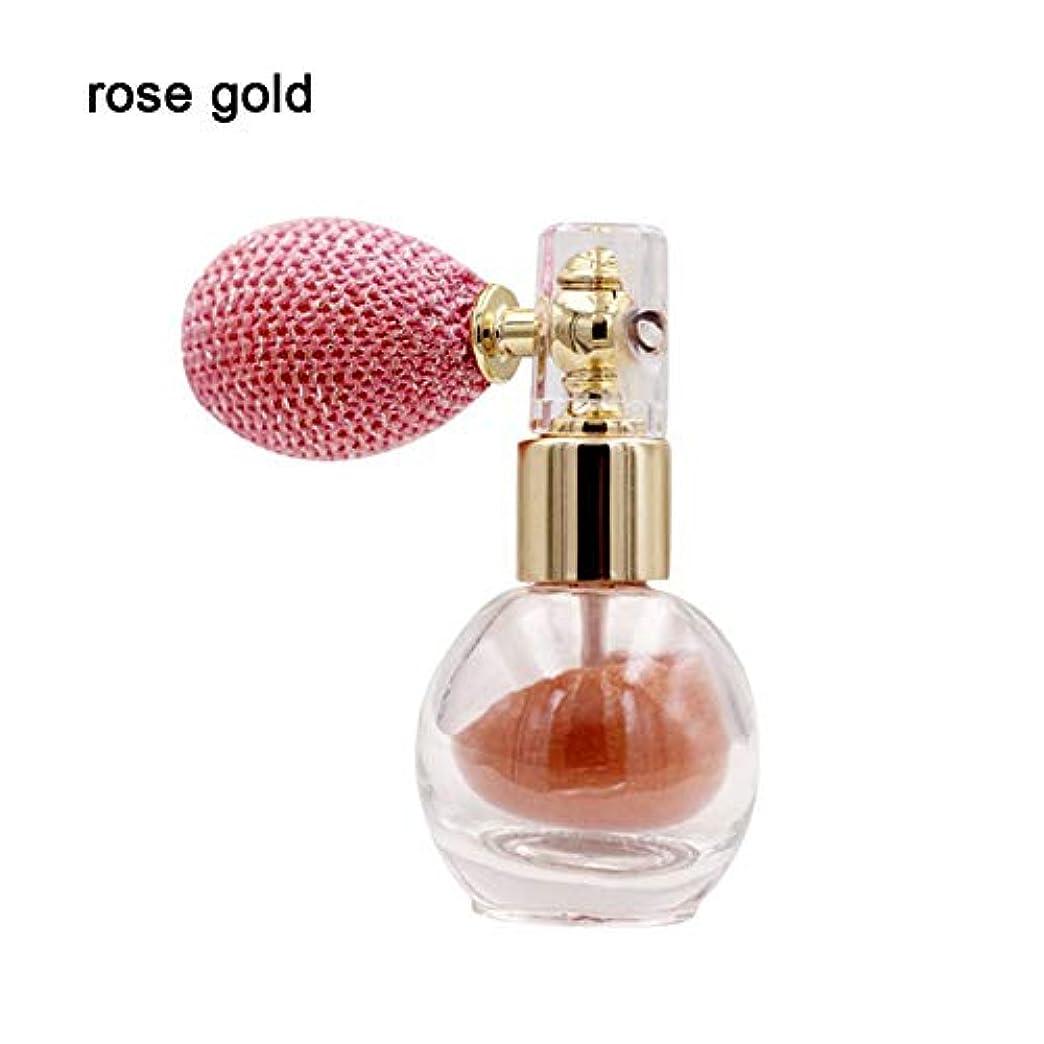 仮定するはさみレイアRabugoo メイクアップキラキラアイシャドーパウダークリームダイヤモンドフェイスボディハイライタールースパウダー美容メイクツール 4# rose gold