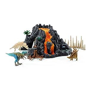 シュライヒ 恐竜 大火山とティラノサウルス恐竜ビッグセット フィギュア 42305