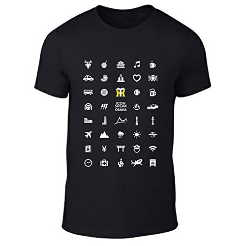 Iconspeak Tシャツ 阪神タイガース x Iconspeak 大阪バージョン メンズ ブラック