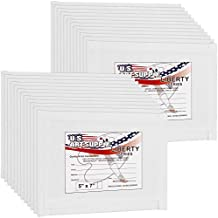 US Art Supply 5 X 7 inch Professional Artist Quality Acid Free Canvas Panel Boards Painting 24-Pack (1 Full Case 24 Single Canvas Board Panels)