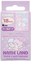 カシオ ラベルライター ネームランド サンリオキャラクターテープ 18mm XR-18SA5 リトルツインスターズ