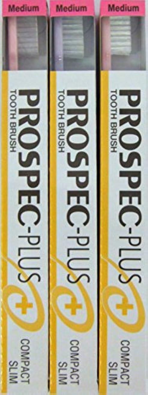丘偉業アンケートGC プロスペック 歯ブラシプラス コンパクトスリム M (3本セット)