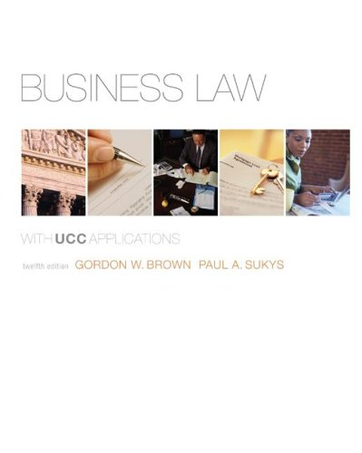 Download Business Law with UCC Applications Student Edition 0073524948