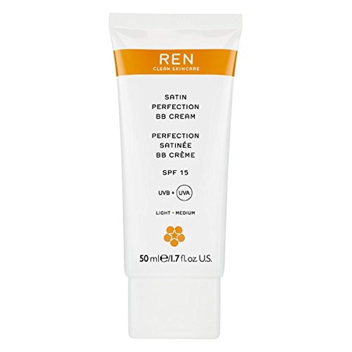 汚染された団結文献Renサテン完璧Bbクリーム50ミリリットル (REN) (x2) - REN Satin Perfection BB Cream 50ml (Pack of 2) [並行輸入品]