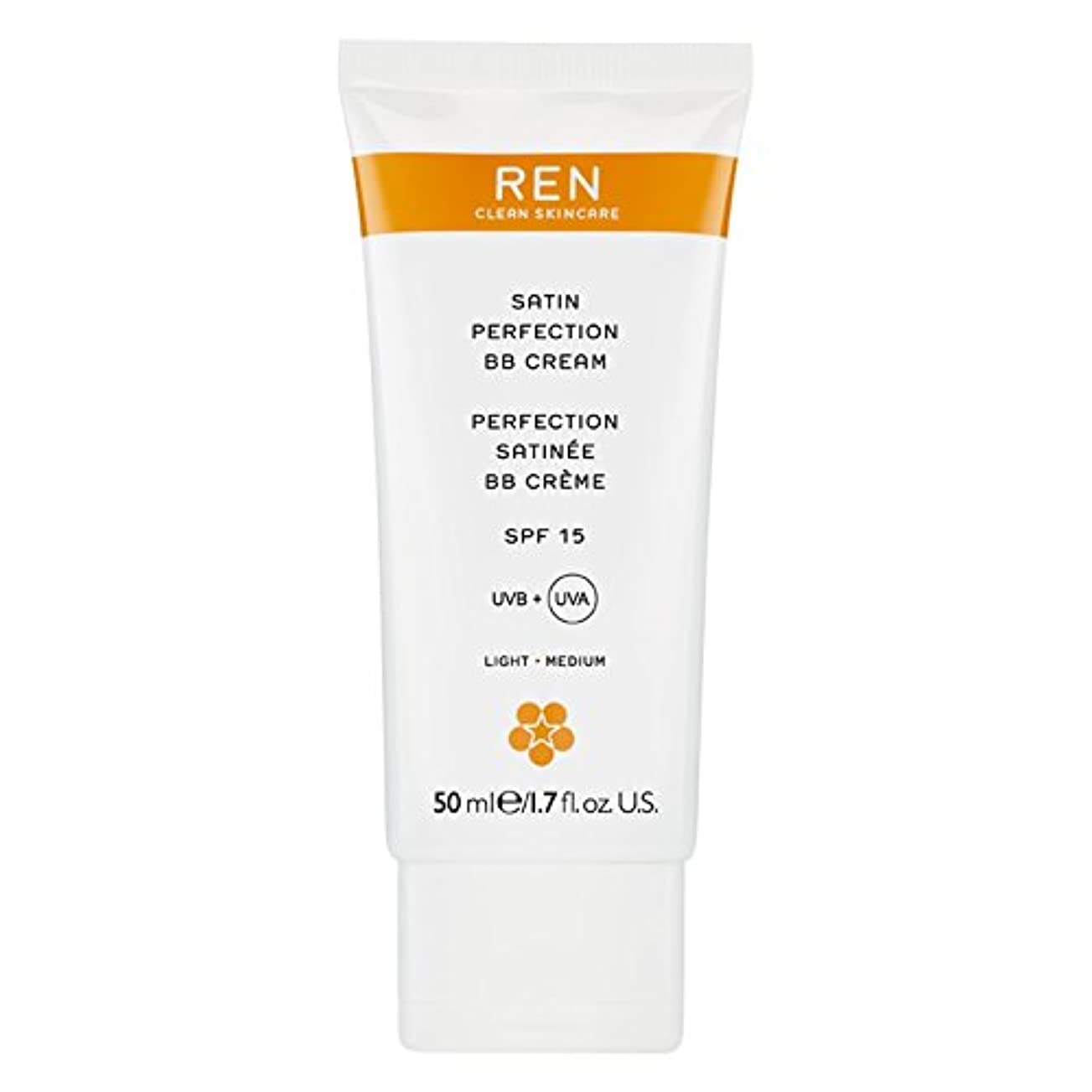 顔料告白する安定したRenサテン完璧Bbクリーム50ミリリットル (REN) (x6) - REN Satin Perfection BB Cream 50ml (Pack of 6) [並行輸入品]