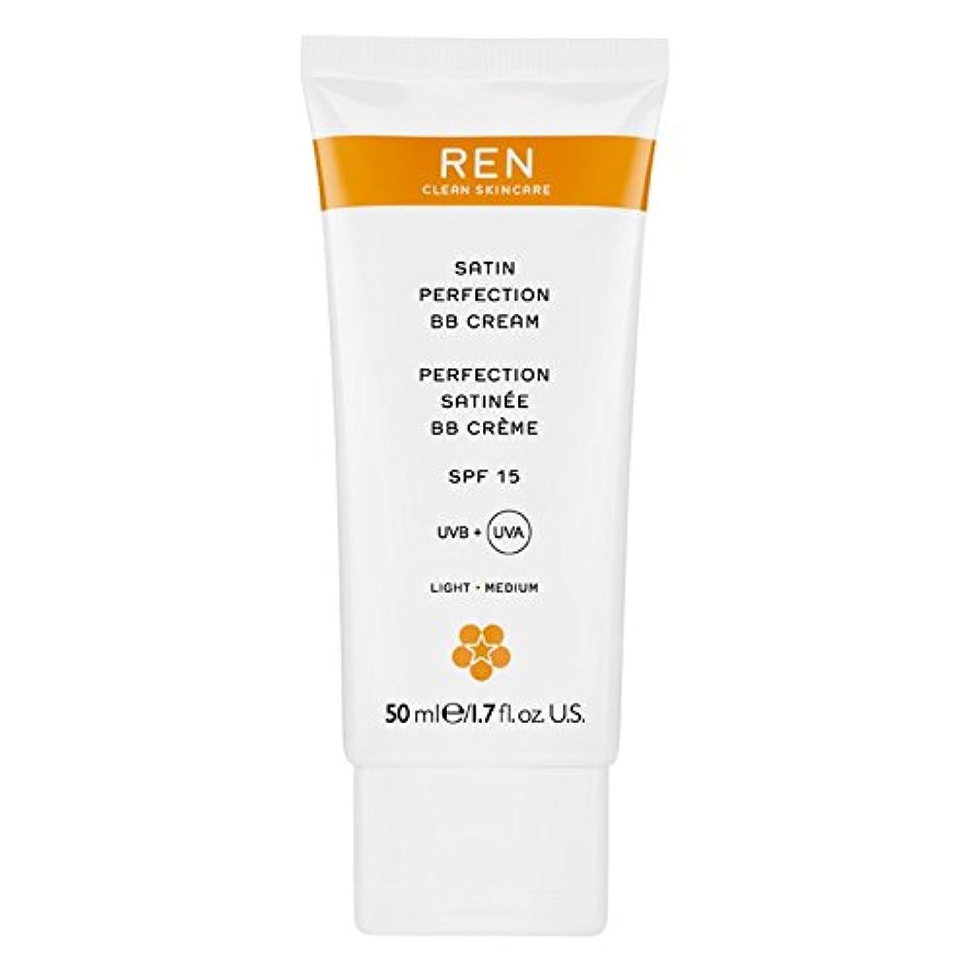 障害者お手入れアミューズRenサテン完璧Bbクリーム50ミリリットル (REN) (x6) - REN Satin Perfection BB Cream 50ml (Pack of 6) [並行輸入品]