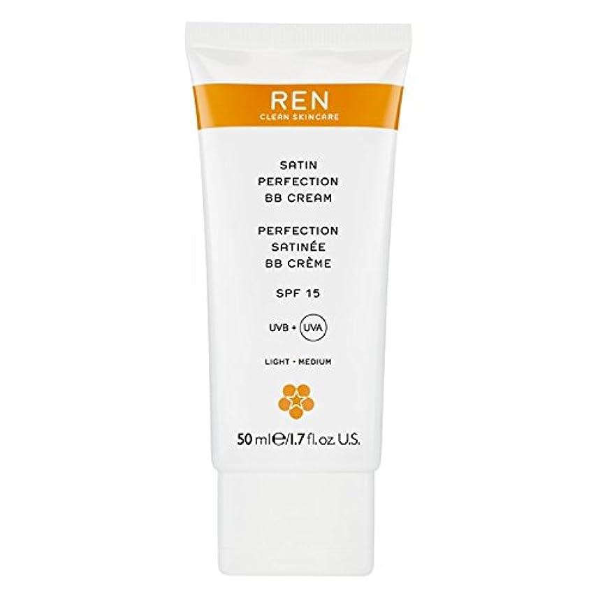 やさしく実験食欲Renサテン完璧Bbクリーム50ミリリットル (REN) (x2) - REN Satin Perfection BB Cream 50ml (Pack of 2) [並行輸入品]