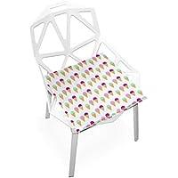 座布団 低反発 アイスクリーム ビロード 椅子用 オフィス 車 洗える 40x40 かわいい おしゃれ ファスナー ふわふわ fohoo 学校