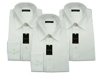 (スティングロード)Stingroad 長袖シロレギュラーカラードレスシャツ3枚セット形態安定加工(ノーアイロン)綿効率 MA1112  シロ 37-78