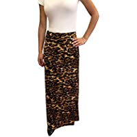 OrlyCollection Women's Stylish A-Line Long Maxi Skirt with Soft Comfort 1. 1/2 inches Elastic Waist Band- Proudly Made in USA