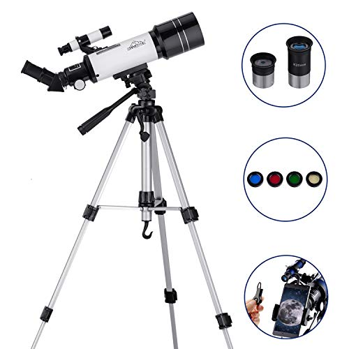 MAXLAPTER天体望遠鏡 子供や初心者用 三脚付 スマホアダプタ摄影を装備して 軍事または日常使用、HD高倍率 持ち運びがしやすい