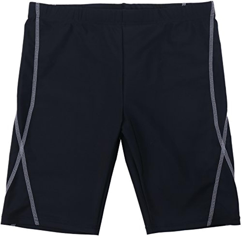【Asbrio】メンズ 水着 競泳 フィットネス スクール ミドルスパッツ スイミング トレーニング用 UPF50+ 撥水加工 80?170cm