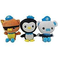 "5"" 3pcs Octonauts Plush Dolls Stuffed Toys & Cake Topper Toy Figures Play Set"