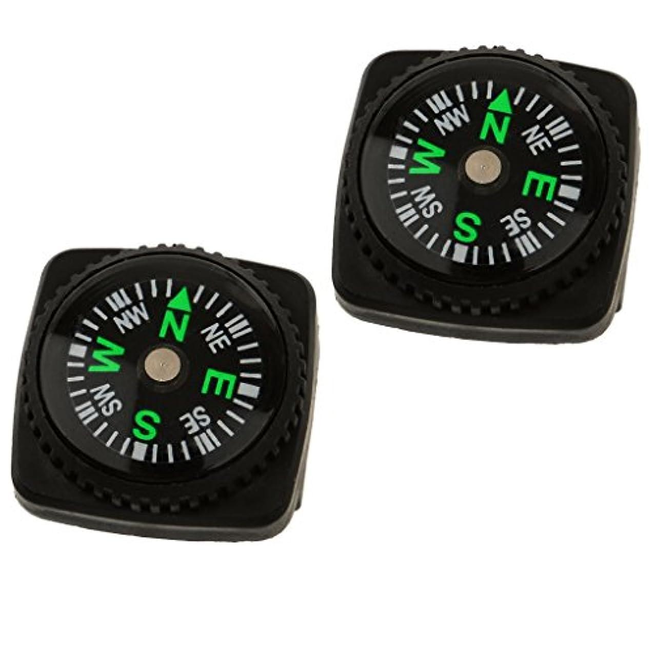 タールそれに応じて鉱夫ノーブランド 品 2個 お買い得 ラバー製 コンパス ホルスター 時計 バンド Paracord ブレスレット コンパス