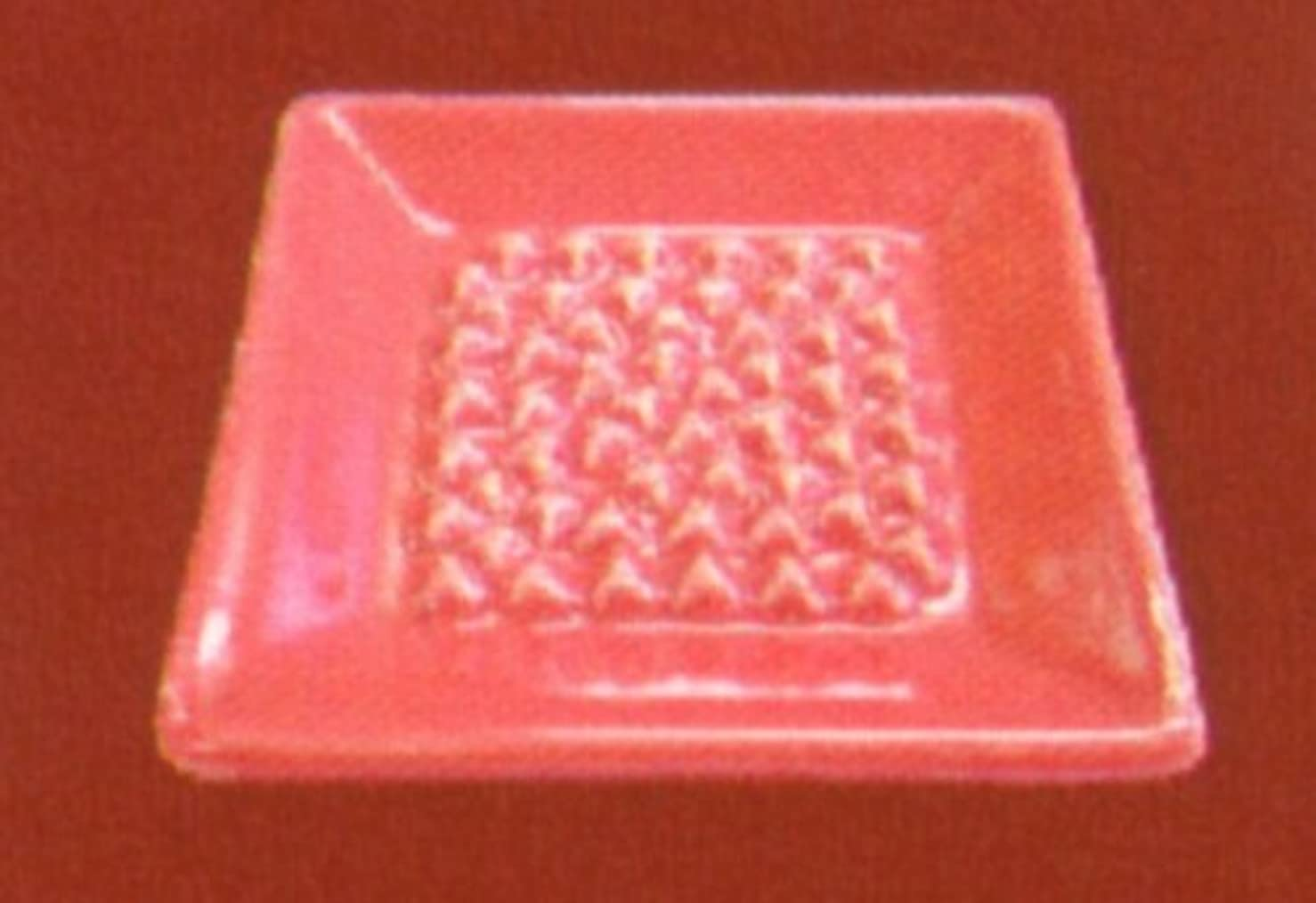 肘比類なき葉っぱBASICインセンスディッシュ(香皿) レッド
