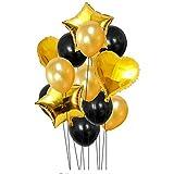 TOOGOO 14個 12インチ 18インチ マルチエアバルーン お誕生日おめでとう? ハッピー?バースデー?パーティー ヘリウム?バルーンのデコレーション ウェディング/フェスティバル/パーティー用品(ゴールド)