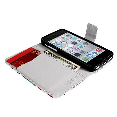 "『ivencase Apple iphone 5C 専用 PU 手帳型レザーケース HAHA + ""ivencase"" 防塵プラグ』の3枚目の画像"