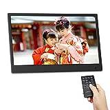 moonka 13.3インチ・デジタルフォトフレーム / 1440x900 HD解像度LEDバックライト液晶/写真・動画・音楽再生・HDMI入力・リモコン付き/カレンダー・自動オン・オフ機能 / 【ブラック】【超薄型】