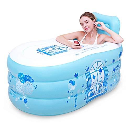 浴槽・バスタブ インフレータブルバスタブ大人のお風呂プールシングルお風呂浴槽肥厚リクライニングインフレータブルプール折りたためるデザインのバスルームの備品(サイズ:150 X 85 Xの75センチメートル)