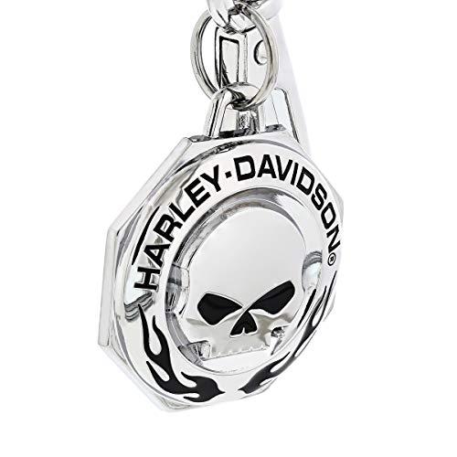 ハーレーダビッドソン メタルキーリング ウィリーGスカル&フレイム #HDKD334 /Harley-Davidson/キーホルダー・キーチェーン/アメリカン雑貨/