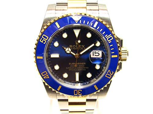 [ロレックス] ROLEX サブマリーナ 腕時計 ウオッチ ブルー×ゴールド×シルバー K18YG(750)イエローゴールド×ステンレススチール SS×セラミック 116613LB [中古]