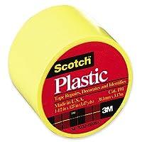"Coloredプラスチックテープ、1–1/ 2"" x125、"" 6RL / BX、イエロー[セットof 3]"