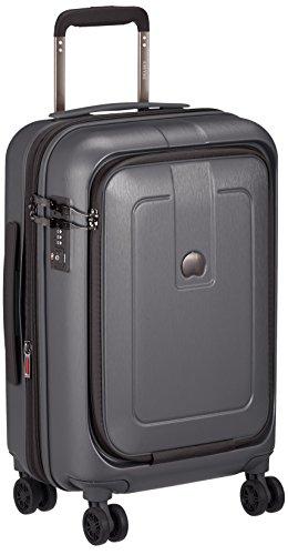 [デルセー] GRENEL スーツケース グレネル 機内持込 1~2泊 小型 5年保証 双輪キャスター フロントポケット 軽量 エキスパンダブル 本体底面内装生地洗濯可 保証付 33L 55 cm 3.1kg ガンメタリック