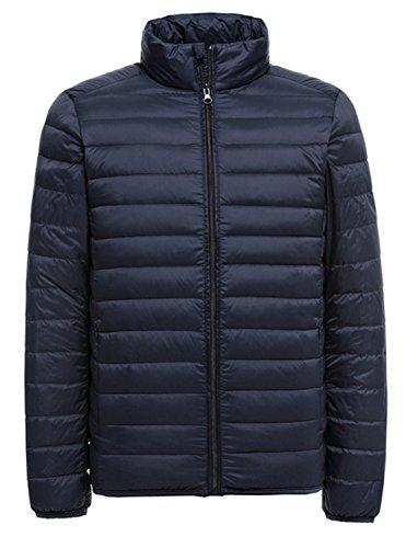 Minghe メンズ ダウンジャケット 軽量 アウター 春秋冬 保温ウェア アウトドア 登山 防風 防寒 コート ブルゾン 収納袋付き