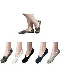靴下 メンズ 5本指 夏 ビジネス フットカバー ソックス 綿 ファッション 抗菌消臭 ギフト 6足セット 敬老の日 プレゼント