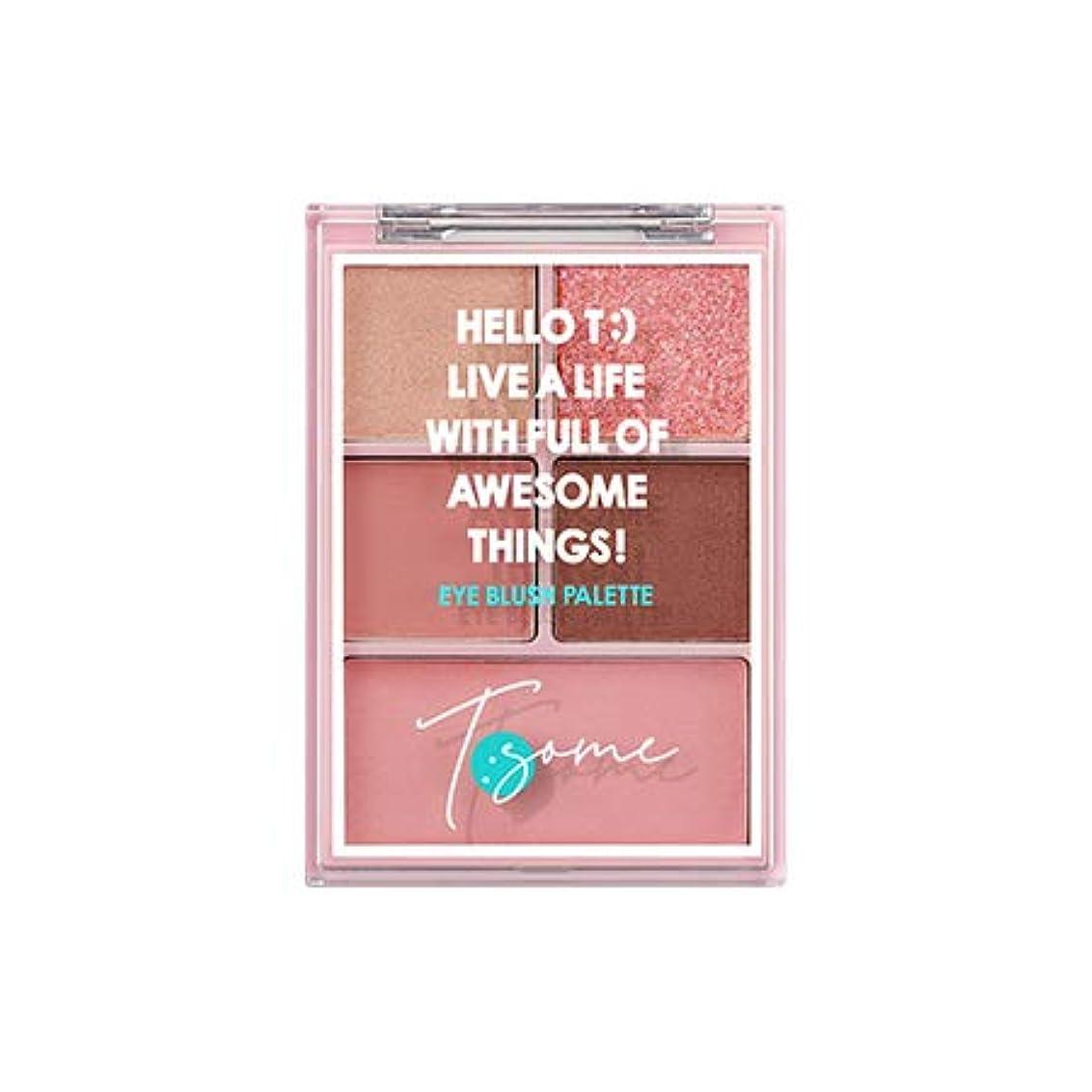 承認大きさめったに[チソム.T:SOME]アイブルロシパレット/eye blush palette(12.3G) (#1 pink jubance_180910026)