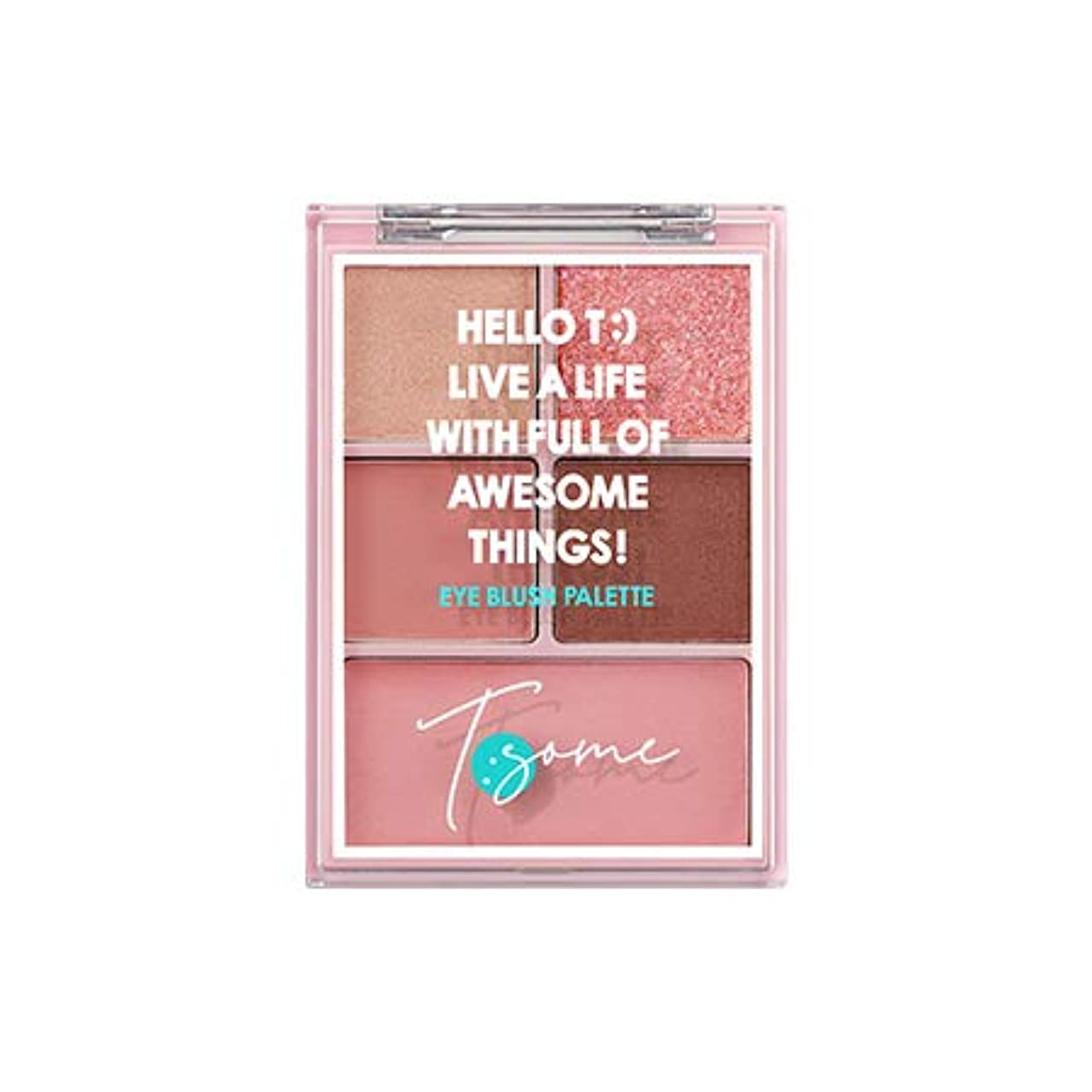 鳴り響くクレーター巨大[チソム.T:SOME]アイブルロシパレット/eye blush palette(12.3G) (#1 pink jubance_180910026)