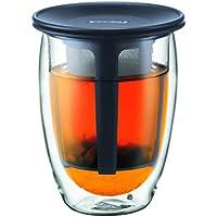 【正規品】 BODUM ボダム TEA FOR ONE ティーフィルター付きダブルウォールグラス 350ml K11153-01