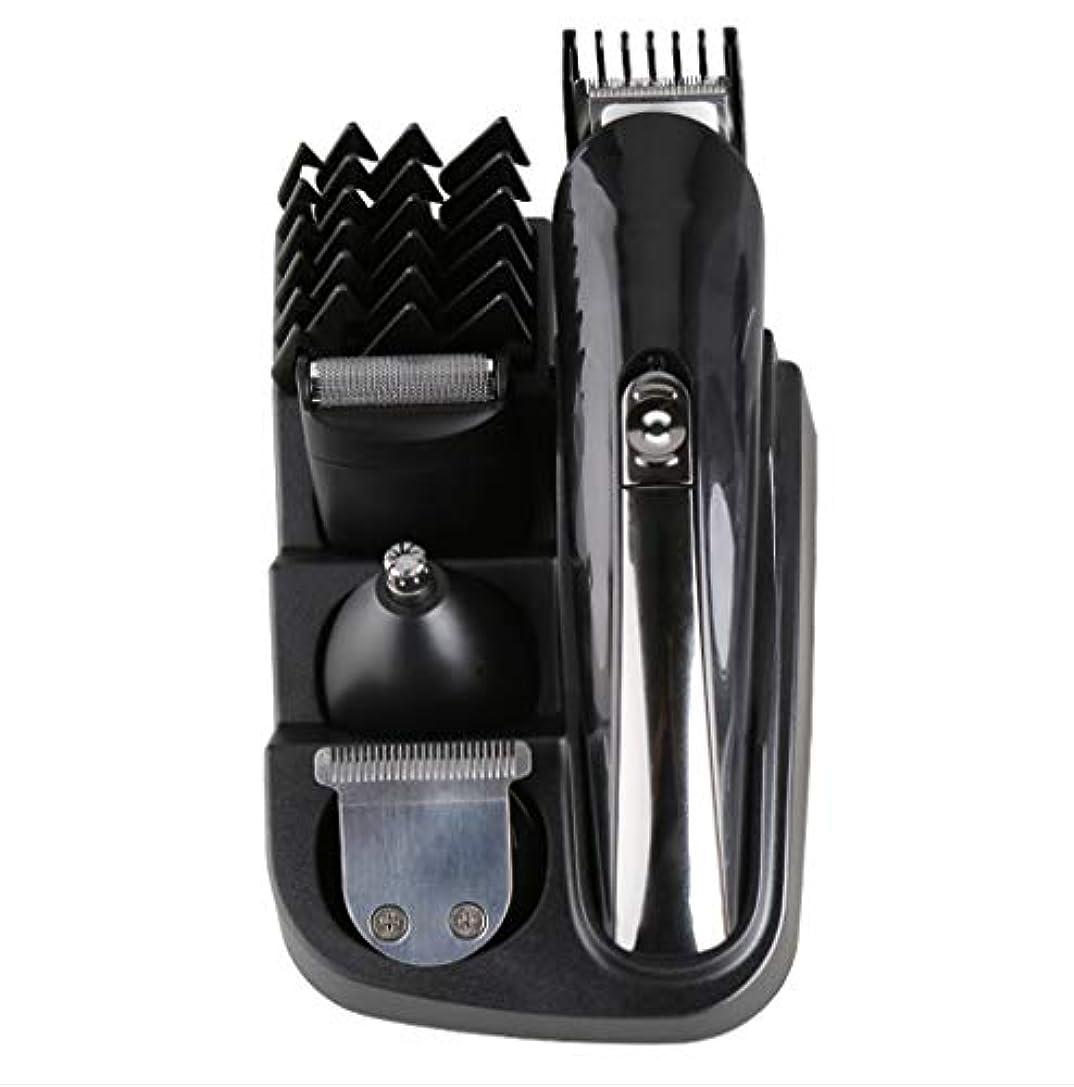 電気バリカン11 in 1、男性用グルーミングキット充電式、レタリングシェーバー鼻毛トリマーひげ耳トリマーコードレススタイリングツール、防水設計