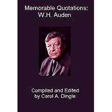 Memorable Quotations: W.H. Auden
