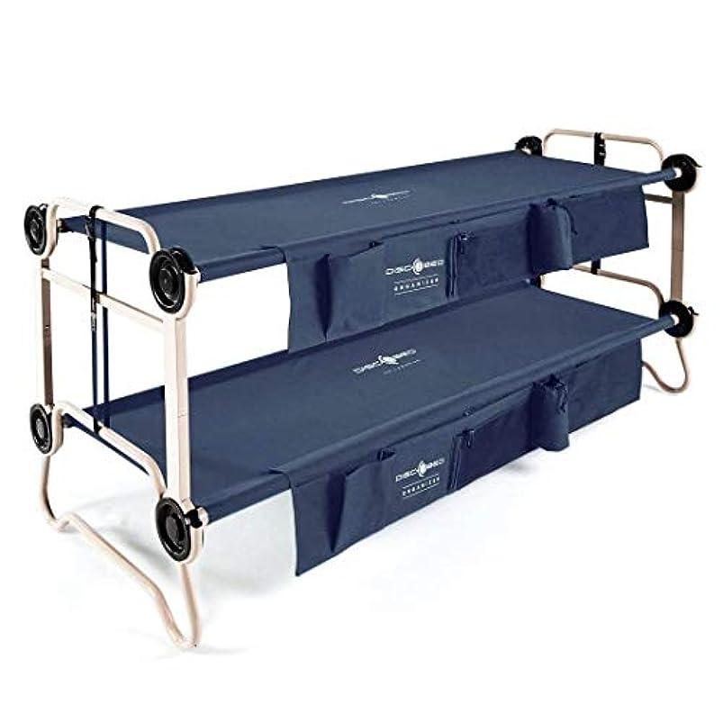 接触あえぎペパーミントDisc-O-Bed Large with Organizers アウトドア キャンプ 分離可能 2段 ベット [並行輸入品] (Navy)