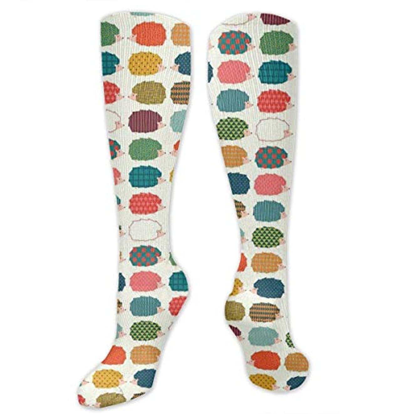 気怠いに向けて出発楽な靴下,ストッキング,野生のジョーカー,実際,秋の本質,冬必須,サマーウェア&RBXAA Cute Colorful Hedgies White Socks Women's Winter Cotton Long Tube...