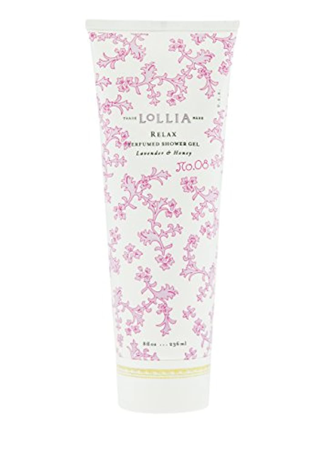 魅惑するシアー溝ロリア(LoLLIA) パフュームドシャワージェル Relax 236ml(全身用洗浄料 ボディーソープ ホワイトオーキッド、タヒチアンバニラ、ハチミツ、アンバーの香り)